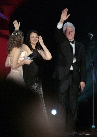 Fran Drescher - Elke Winkens, Fran Drescher and Bill Clinton at the Life Ball, 2009
