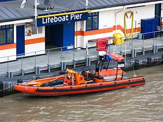E-class lifeboat - Mark I E-005 Legacy on station