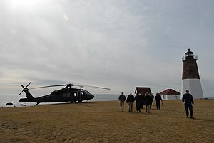 Point Judith, Rhode Island - United States Navy and Coast Guard personnel at the Point Judith Light
