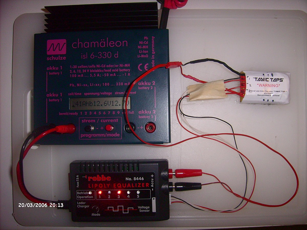 Battery Balancing Wikipedia Simple Nicd Charger Electronic Circuits