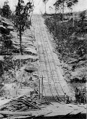 Ten Tunnels Deviation - A funicular rail line was used for supplies.