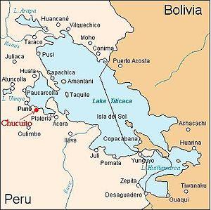 Chucuito - Image: Localización de Chucuito
