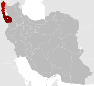 United Nations Security Council Resolution 3 - Approximate extent of Soviet positions in the Republic of Mahabad.