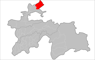 Location of Asht District in Tajikistan
