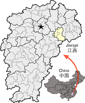 Location of Yingtan within Jiangxi.png