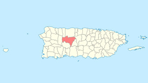Location of Utuado in Puerto Rico