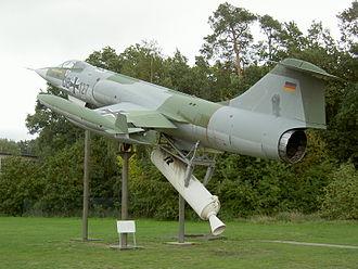 NBMR-3 - Lockheed F-104G Starfighter in ZELL launch attitude on display at the Militärhistorisches Museum Flugplatz Berlin-Gatow