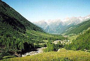 Lötschental - View of the Lötschental from Fafleralp