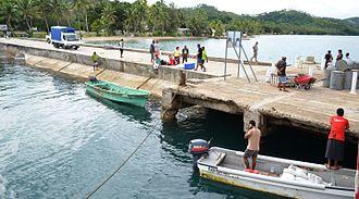 Lomaloma - The Lomaloma jetty, Vanua Balavu, Fiji.