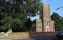 London-Woolwich, St Mary Magdalene Church & crucifix 2.JPG