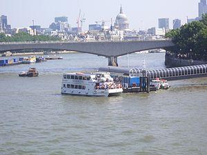 """Crown River Cruises - The vessel """"Suerita"""" at Festival Pier"""