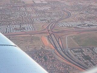 SuperRedTan Interchange freeway interchange in Mesa, Arizona
