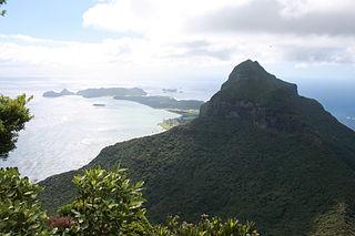 Mount Lidgbird mountain in Australia