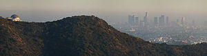 Griffith Observatory - Griffith Observatory and downtown LA skyline