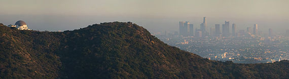 Air pollution over the City of Los Angeles, California, U.S.A.