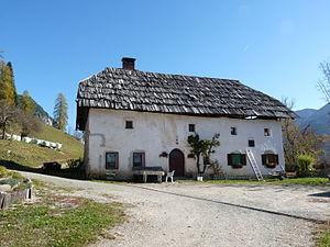 Lovrenc Lavtižar - Vavčar farm in Srednji Vrh, the birthplace of Lovrenc Lavtižar