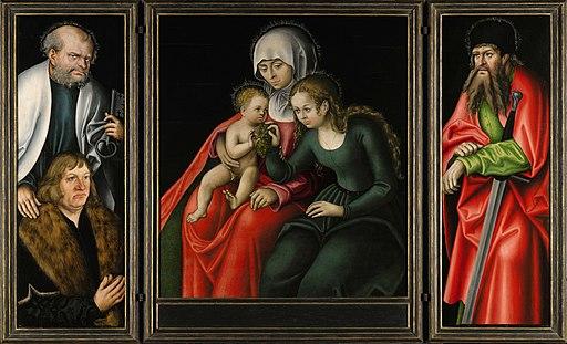 Lucas Cranach d.Ä. - Der Feilitzscher Altar (geöffnet)