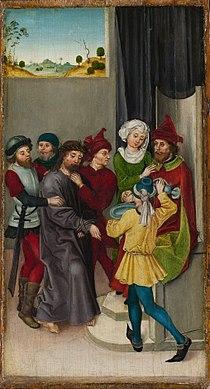 Ludwig Schongauer - Christus vor Pilatus (Metropolitan Museum of Art).jpg