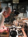Lynn working at his old lathe.jpg