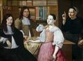 Målning. I klädeshandeln. Adrien Bloem - Hallwylska museet - 86718.tif