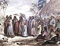 M. Radiguet, Tahitians coming from Church, 1843.jpg