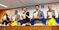 M. Venkaiah Naidu releasing the Reference Annual book India-2017 and Bharat-2017, published by Publications Division, in New Delhi.jpg