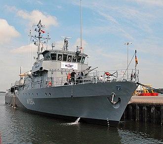 Frankenthal-class minehunter - Image: M1064 Grömitz 1