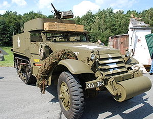 M3 Half-track - On display in Ursel (Northwest of Ghent), Belgium