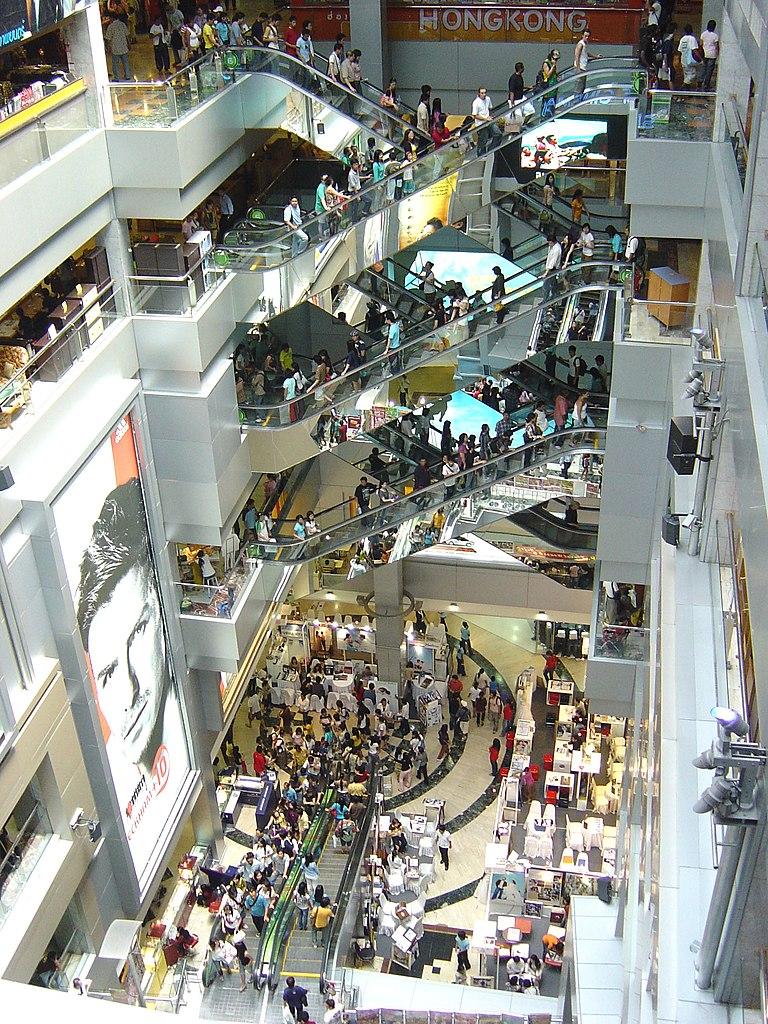 A lintérieur du centre commercial du MBK à Bangkok - Photo de  Christian Henrich