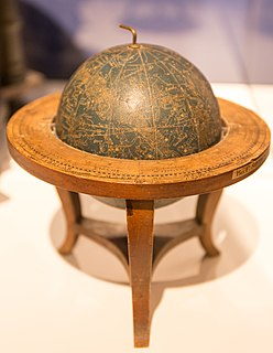 Globe A three-dimensional scale model of a spheroidal celestial body