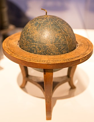 Globe - Celestial globe in the exhibition of the Museum Europäischer Kulturen in Berlin, Germany