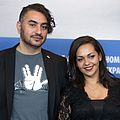 MJK33009 Hicham Lasri and Salma Eddlimi (Headbang Lullaby, Berlinale 2017).jpg