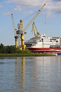 MS Viking Grace, Pernon telakka, Hahdenniemen venesatama, Raisio, 11.8.2012 (11).JPG