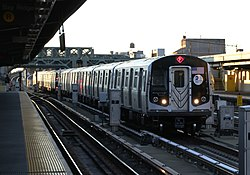 MTA NYC Subway F-express train at Fourth Ave.jpg