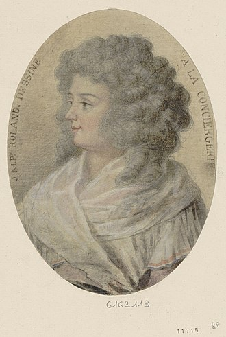 Madame Roland - Madame Roland in de the Conciergerie, shortly before her execution