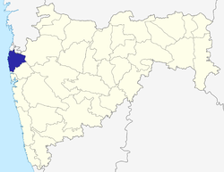 Location of Palghar District