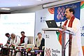 "Mahesh Sharma addressing the gathering during the conference titled ""Carving a niche market for Indian handcrafted goods"", at Textiles India 2017, in Gandhinagar, Gujarat.jpg"