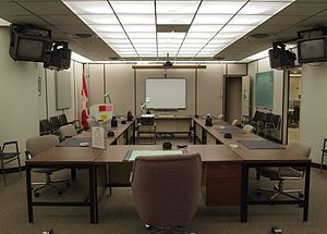 Emergency Government Headquarters - Conference room at the CFS Carp bunker, 30 km west of Ottawa