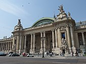 "The Grand Palais in Paris, opened in 1900, built for the 1900 Exposition Universelle (""universal exhibition"")"