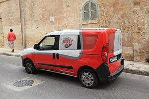 MaltaPost - MaltaPost Fiat Doblò Mk2 van in St. Julian's.