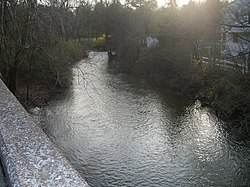 Manada Creek at the Jonestown Road bridge.jpg