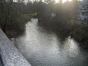 Manada Creek - View of the creek from the Jonestown Road Bridge at Manada Hill, Pennsylvania.