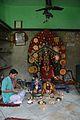 Manasa Idol with Pujari - Manasa Mandir - Sitaram Shaw Establishment - Diamond Harbour Road - Kidderpore - Kolkata 2015-12-13 8031.JPG