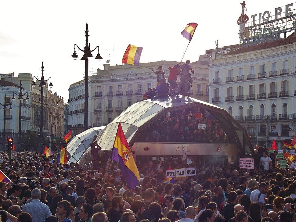 Manifestación republicana en Sol (2 de junio de 2014)