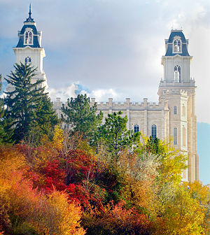 Mormon Pioneer National Heritage Area - The Mormon Temple in Manti, Utah is one of the most prominent landmarks and symbols of the MPNHA