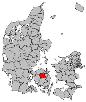 Odense Municipality - Image: Map DK Odense