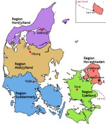 dänemark karte regionen Region (Dänemark) – Wikipedia