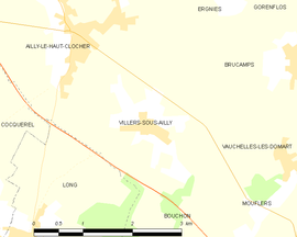 Mapa obce Villers-sous-Ailly