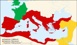 Map of Ancient Rome 271 AD la.svg