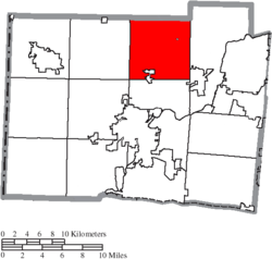 Location of Wayne Township in Butler County